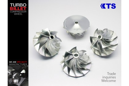 KTS Turbobillet X - Billet Compressor Wheel | MFS3732C - GT37 (52.56/68.01) 6+6 Forward